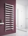 Reina Deno 496 X 500 Brushed or Polished Stainless Steel Dual Fuel Vertical Towel Rail and Radiator