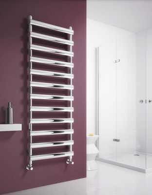 Reina Deno 1488 X 500 Brushed or Polished Stainless Steel Dual Fuel Vertical Towel Rail and Radiator