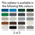 Reina Colona 500 X 785 (2 columns) Steel Dual Fuel Traditional Horizontal Radiator - RAL Colours