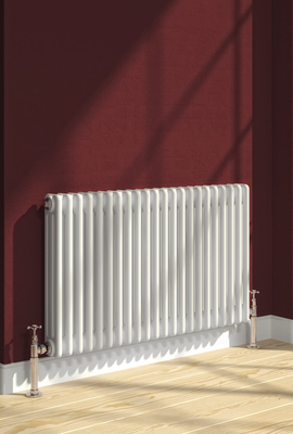 Reina Colona 300 X 1190 (4 columns) Steel Dual Fuel Traditional Horizontal Radiator - RAL Colours