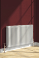 Reina Colona 300 X 1370 (4 columns) Steel Dual Fuel Traditional Horizontal Radiator - RAL Colours