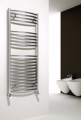 Reina Diva 1400 X 500 Steel Chrome Dual Fuel Modern Vertical Bathroom Towel Rail and Radiator