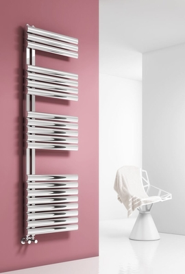 Reina Scalo 826 X 500 Brushed or Polished Stainless Steel Dual Fuel Vertical Radiator