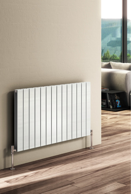 Reina Flat Double 600 X 1402 Designer Steel Dual Fuel Modern Horizontal Panelled Radiator - RAL Colours