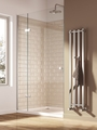 Reina Todi 1200 x 108 Steel Dual Fuel Modern Vertical Bathroom Towel Rail and Radiator
