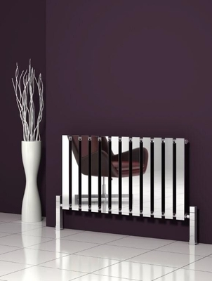 Reina Pienza 550 X 825 Designer Chrome Dual Fuel Contemporary Horizontal Radiator