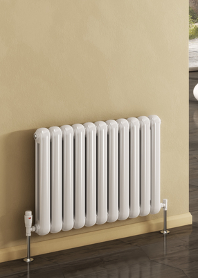 Reina Coneva Horizontal Designer Steel Traditional Radiator - Anthracite
