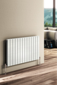 Reina Flat Double Designer Steel Modern Vertical and Horizontal Panelled Radiators - White