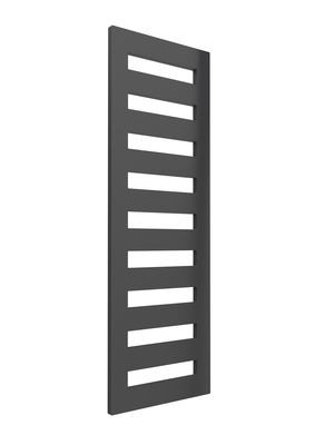 Reina Fondi Steel Contemporary Vertical Bathroom Flat Towel Rail and Radiator - Anthracite
