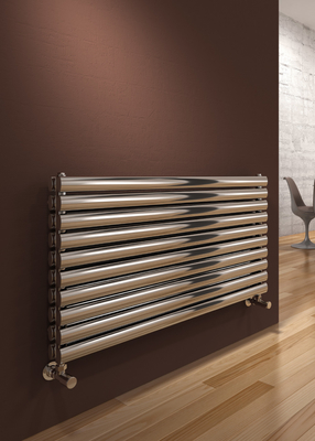 Reina Artena Double Stainless Steel Modern Horizontal Radiator - Polished