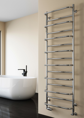 Reina Belbo Stainless Steel Modern Vertical Bathroom Towel Rail and Radiator - Polished