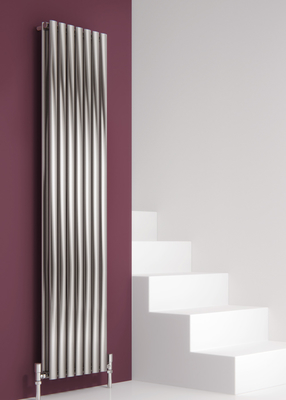 Reina Nerox Designer Stainless Steel Double Vertical Radiator - Brushed