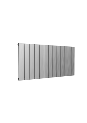 Reina Casina Single Horizontal Designer Aluminium Contemporary Panelled Radiator - Brushed