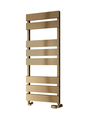 Reina Fermo Designer Aluminium Vertical Bathroom Towel Rail and Radiator - Bronze Satin