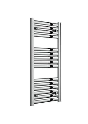 Reina Anita Aluminium Modern Vertical Bathroom Towel Rail and Radiator - Polished