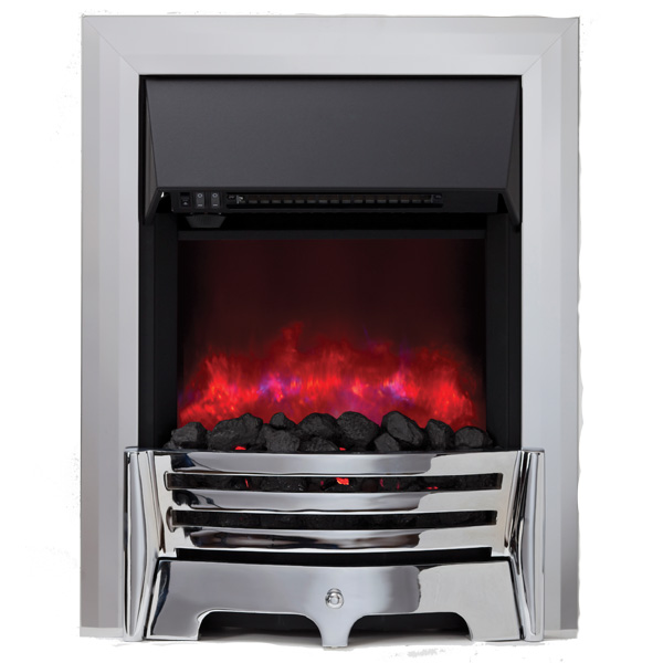 Be Modern Mayfair Inset LED Electric Fire - Chrome