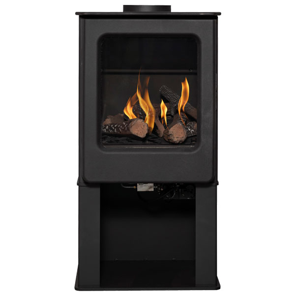 Mendip Ashcott 2-7kw Natural Gas Stove With Log Store - Balanced Flue