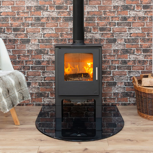 Mendip Loxton 5 MK4 - 5kw Defra Multifuel Stove With Log Store