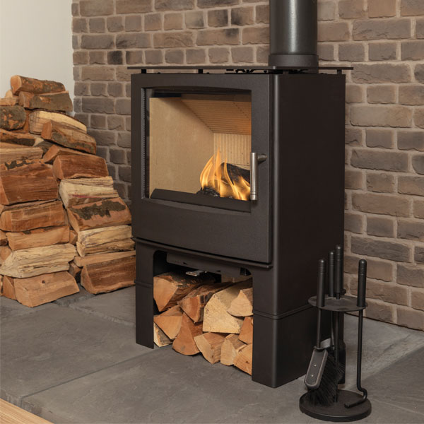Mendip Woodland MK4 7.5kw Defra Multifuel Stove With Log Store