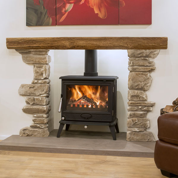 Newman Fireplaces Bideford With York Stone Corners Suite