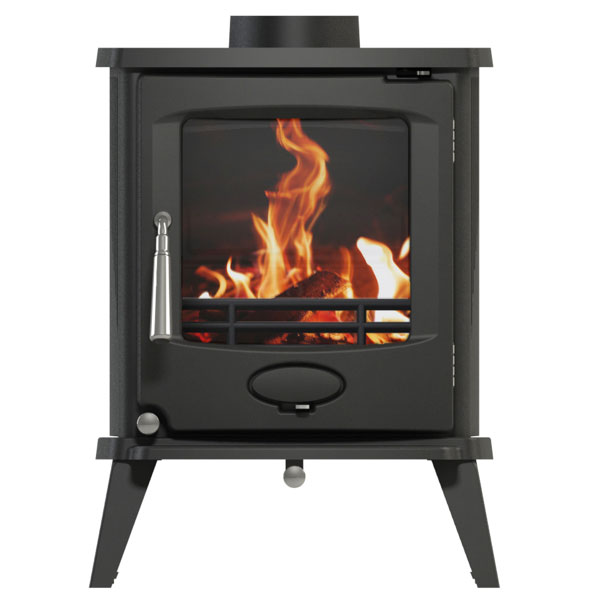 Newman Fireplaces Chesham 4.9kw Defra Multifuel Stove - Matt Black Enamelled