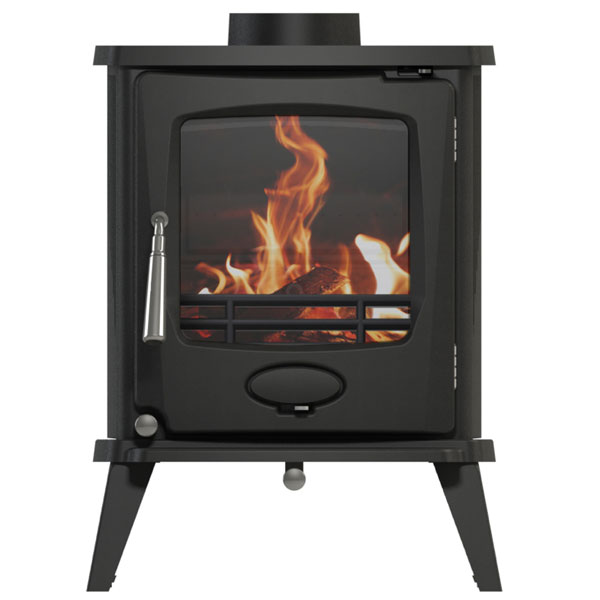 Newman Fireplaces Sherbourne 4.9kw Defra Multifuel Stove - Matt Black Enamelled