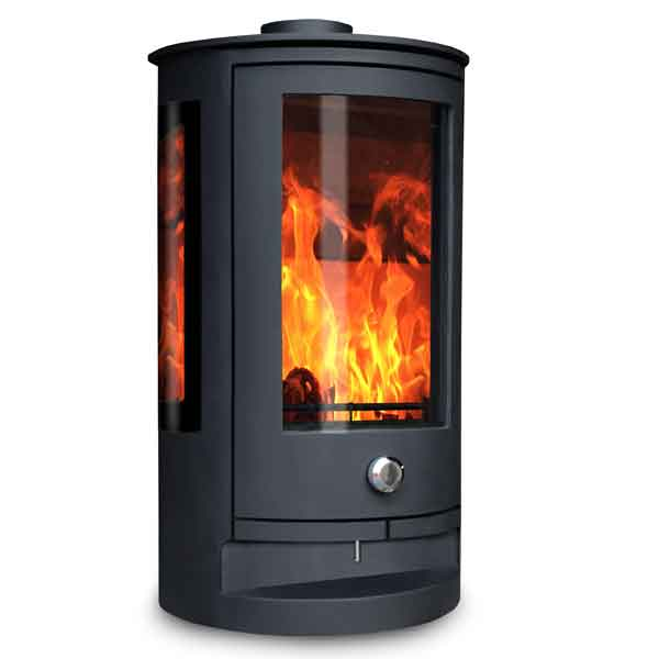 Oak Stoves Zeta Compact 5kw Multifuel Stove With Side Glass
