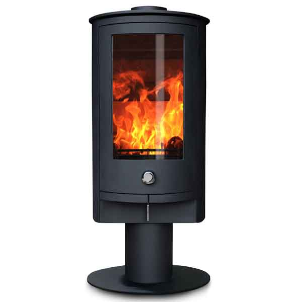 Oak Stoves Zeta 5kw Multifuel Stove On Pedestal