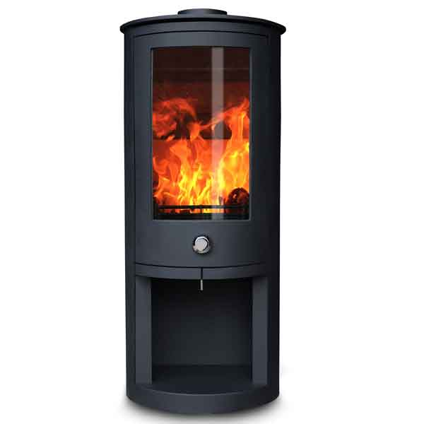 Oak Stoves Zeta 5kw Multifuel Stove With Log Store