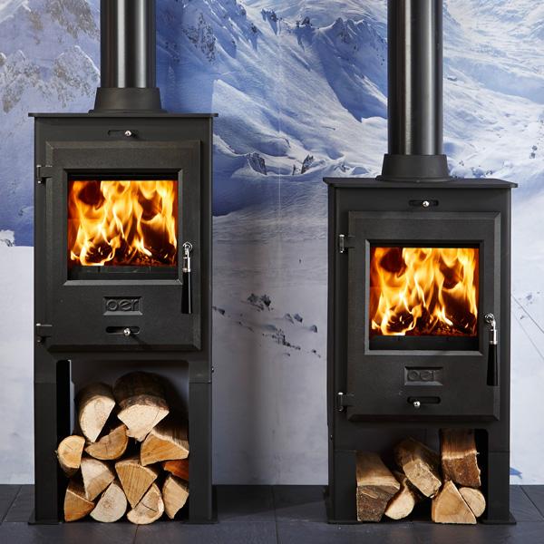 Oer 5 4 8kw Defra Approved Multifuel Wood Burning Stove