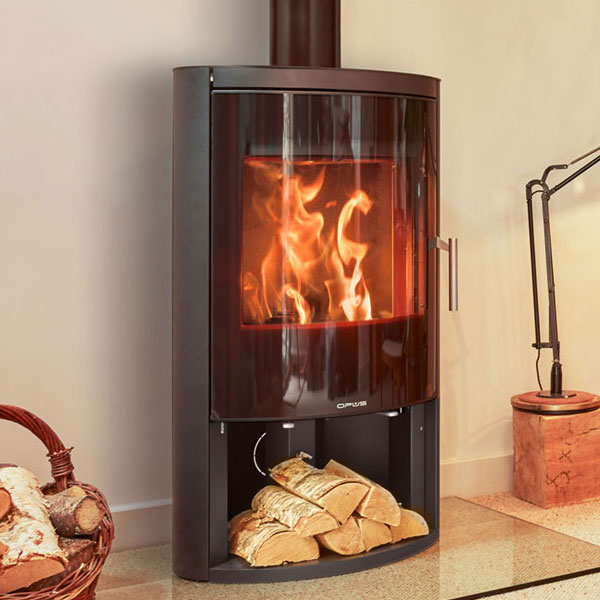 Opus Harmony 7kw Multifuel Stove With Log Store & Glass Door