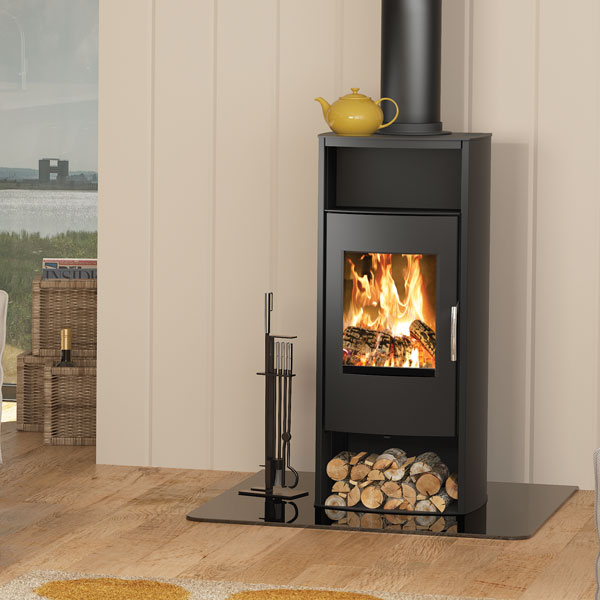Broseley Phoenix 8kw Wood Burning Stove With Log Store