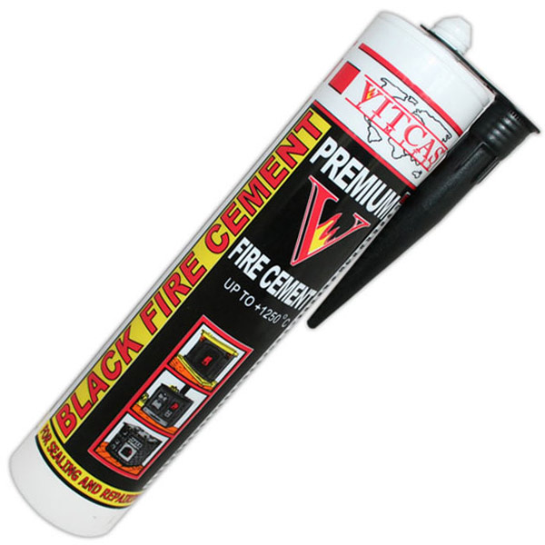 Vitcas Black Fire Cement Tube 300ml