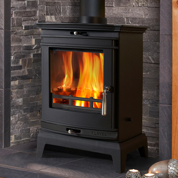 Flavel Rochester 5kw Multifuel Stove (Black Trim)