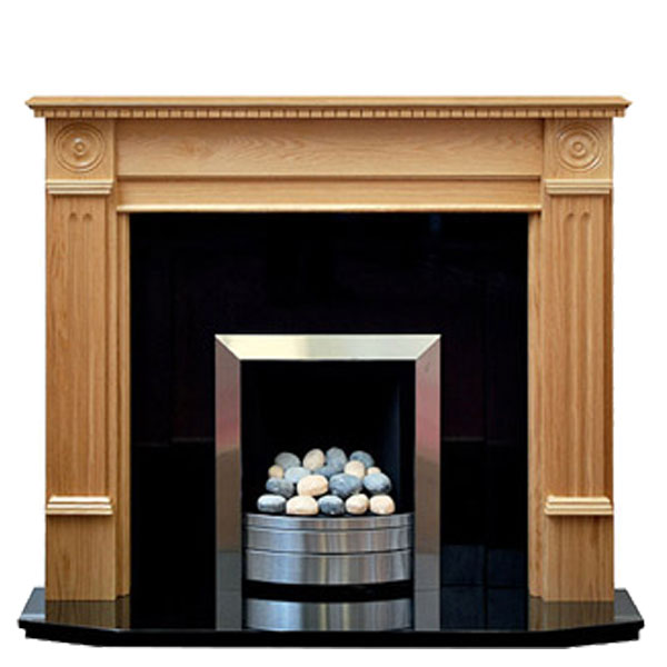 Prestige Roundel Hand Crafted Solid Wood Fire Surround - Oak