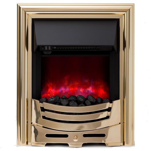 Be Modern Signum Inset LED Electric Fire - Brass