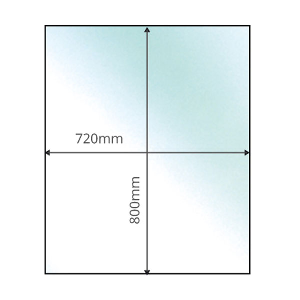 Rectangular Small - 12mm x 800mm x 720mm