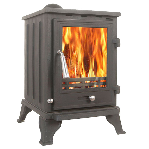 The Rosa 5kw Log Stove And Complete Flue Package 163 319 99