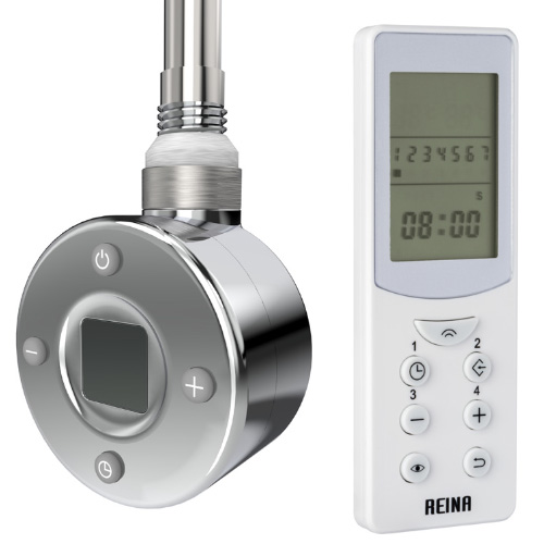 Reina Thermostatic Element with Remote - Chrome