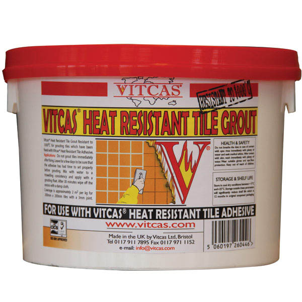 Vitcas Heat Resistant Tile Grout 2.5kg - Grey