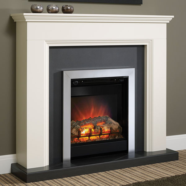 Be Modern Westcroft Electric LED Fireplace - Chrome