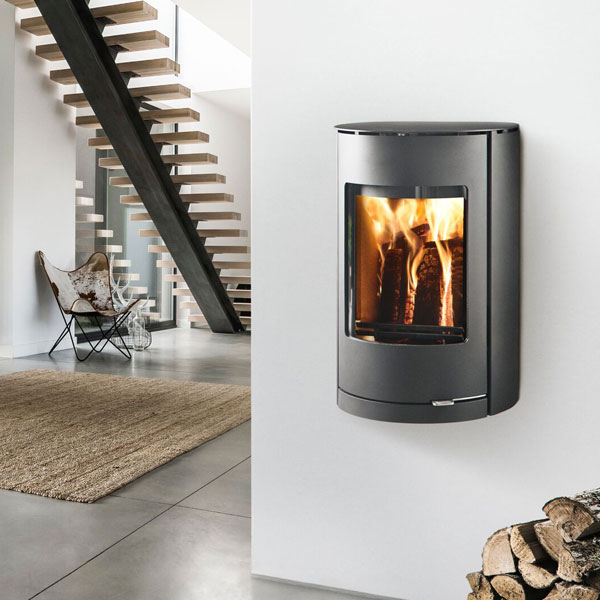 Westfire Uniq 36 7.2kw Wall Hung Defra Wood Burning Convection Stove