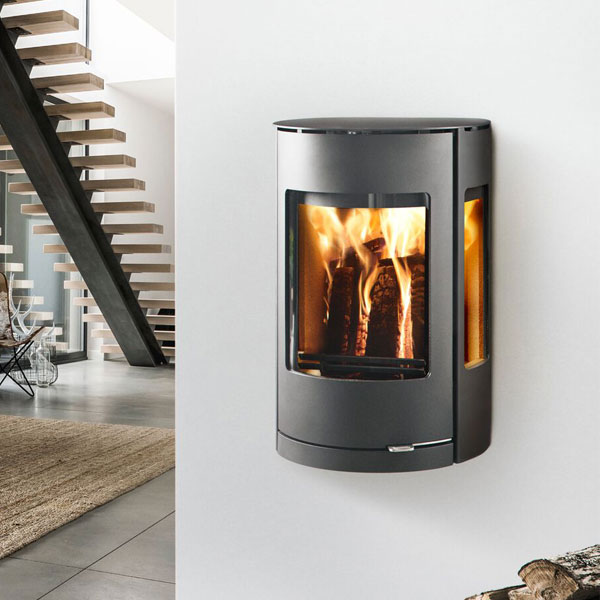 Westfire Uniq 37 7.2kw Wall Hung Defra Wood Burning Convection Stove