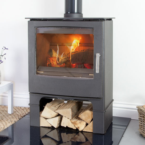 Mendip Woodland MK4 5kw Defra Multifuel Stove With Log Store