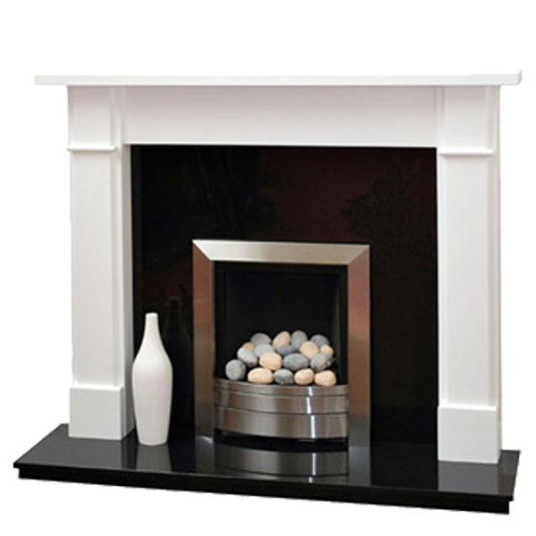 White Fire Surround Part - 29: Prestige Worcester Hand Crafted Solid Wood Fire Surround - White