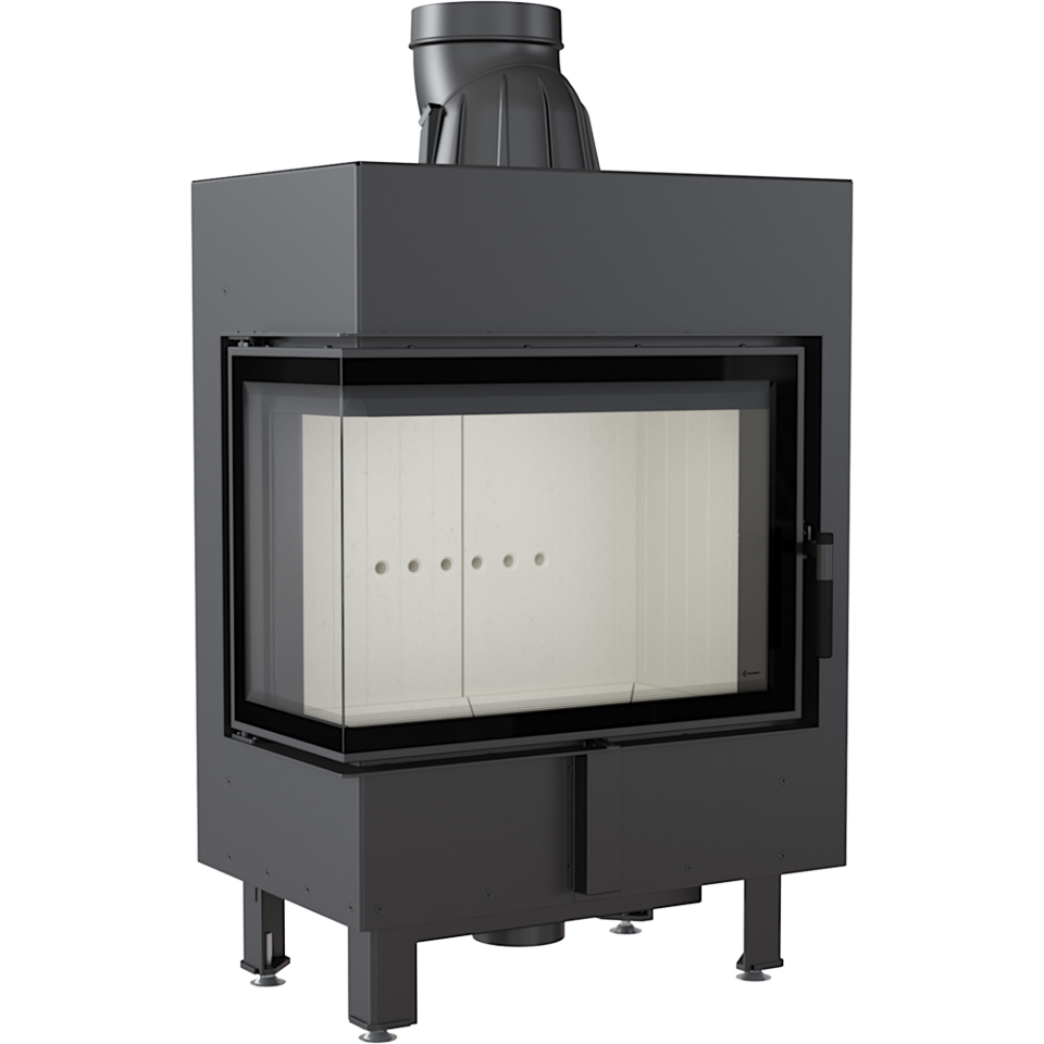 Kratki Lucy 12 12kw Inset Wood Burning Stove With Left Side Glass - LUCY/12/L/BS