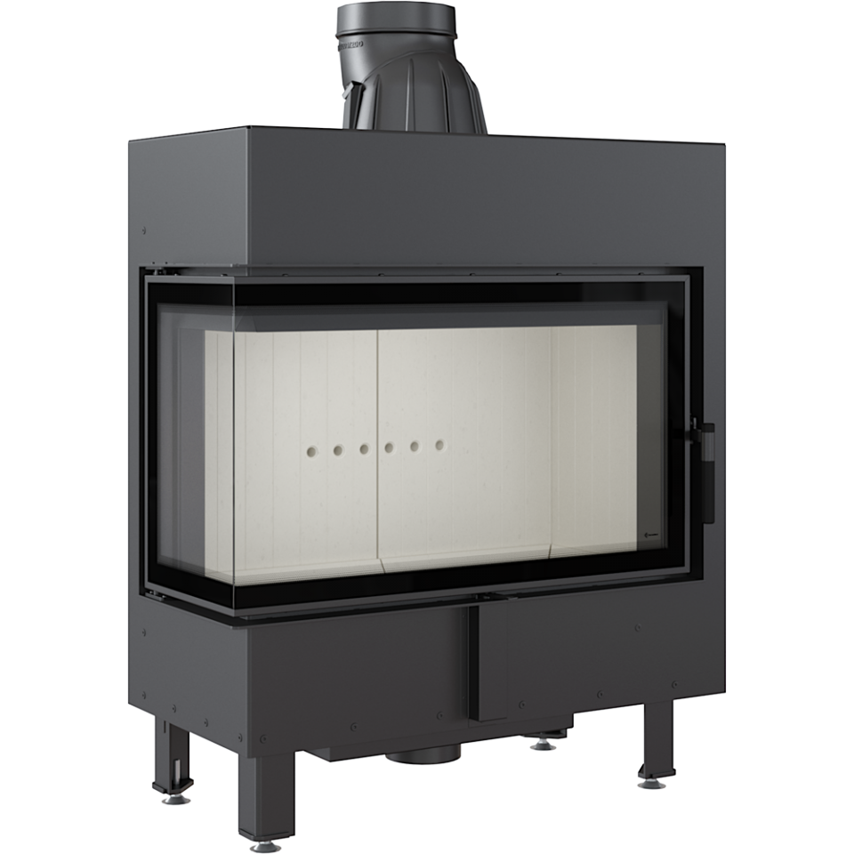 Kratki Lucy 14 14kw Inset Wood Burning Stove With Left Side Glass - LUCY/14/L/BS