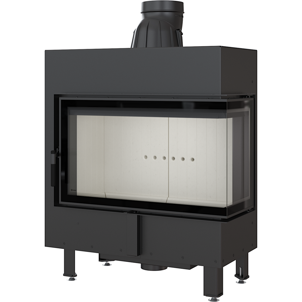 Kratki Lucy 14 14kw Inset Wood Burning Stove With Right Side Glass - LUCY/14/P/BS