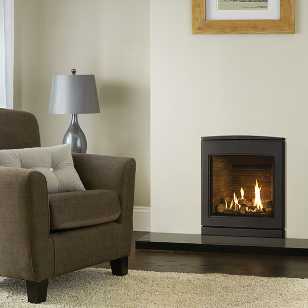 Yeoman CL530 4.7kw Inset Natural Gas Stove With Brick Effect Lining - For Conventional Flue