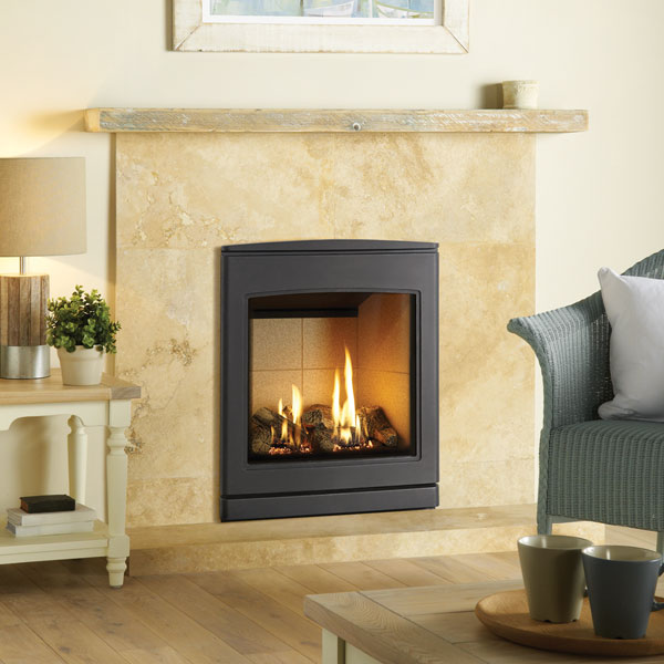 Yeoman CL530 4.7kw Inset Natural Gas Stove With Vermiculite Lining - For Conventional Flue